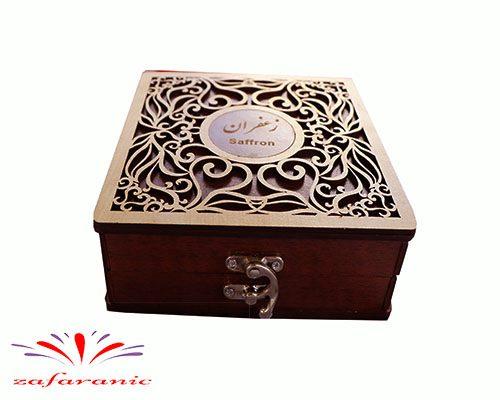 باکس چوبی کادویی زعفران